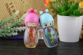 Decorative Spray Bottle 100ml Multi Color Dolls Glass Perfume Spray Bottle Decorative 90