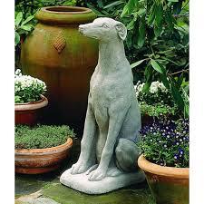 Greyhound Dog Cast Stone Garden Statue