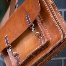 mens genuine leather vintage laptop messenger handmade briefcase bag satchel
