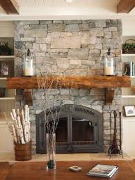 Simply cover an existing fireplace with real thin stone. Natural ...