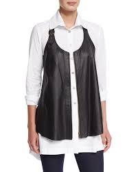 xcvi upstage perforated leather vest plus size