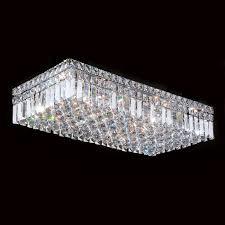 w33530c24 cascade 6 light chrome finish and clear crystal flush regarding mount chandeliers ideas 17