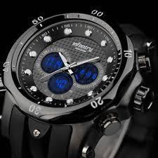 tactical watch infantry mens digital quartz wrist watch sport chronograph date rubber tactical