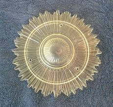 vintage sunburst faceted glass ceiling light cover fixture in x sold gallery