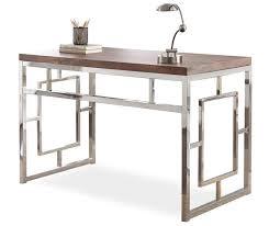 alize brown chrome geometric desk