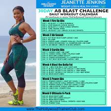 30day ab blast workout calendars 001