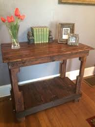 Reclaimed Pallet Wood Side Table Kitchen Island Hardwood Etsy