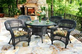 5 piece outdoor dining set. Dark Roast With Callie Coffee Cushions 5 Piece Outdoor Dining Set