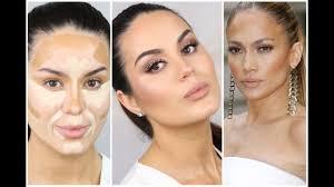 jlo inspired contouring glowy neutral makeup tutorial makeupbygio