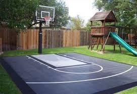 diy backyard basketball court. Delighful Diy Diy Patio Staining Stencil Ideas  DunkStar U2013 Backyard Basketball Courts  Residential Courts  Throughout Diy Court E