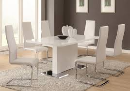 leather dining chairs modern. Set Of 4 Modern Dining White Faux Leather Chairs With Chrome Legs H