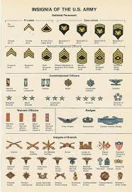 Us Army Hierarchy Chart Former Historical U S Army Officer Branch And Enlisted Rank