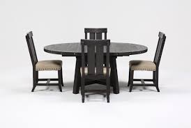Living Spaces Dining Table Set Jaxon 5 Piece Extension Round Dining Set W Wood Chairs Living Spaces