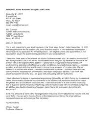 Great Cover Le Cool Sample Business Systems Analyst Cover Letter In
