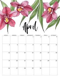 Free Printable April Calendar 2020 2020 Free Printable Calendar Floral Paper Trail Design