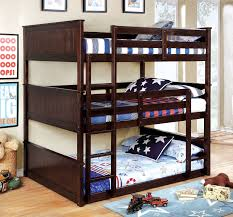 Therese Espresso Full Size Triple Bunk Bed w/ 2 Attached Ladders