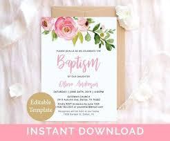 Baptism Invitation Template In Baptismal Christening Invitation