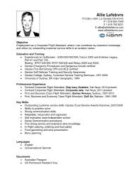 Entry Level Flight Attendant Resume Exclusive Delta Airlines Resume