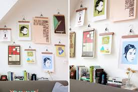 Hanging Prints Without Frames Wondrous Save A Wall Hang Poster 20 Ideas For  Alternative Art Display