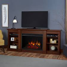 eliot grand infrared electric fireplace entertainment center in vintage black maple 1290e vbm