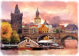 watercolor cities