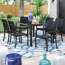 outdoor dining table and chairs. Pierre 7 Piece Dining Set Outdoor Dining Table And Chairs