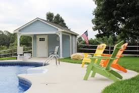 Pool house furniture Rustic 12x18 Vinyl Garden Shed Pool House Premo Products Premo Products For Quality Sheds In The Syracuse Ny And Surrounding