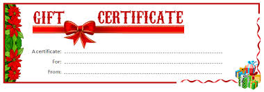 christmas certificates templates free printable christmas gift certificate templates 2017