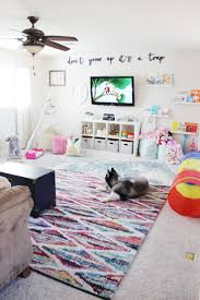 Don't grow up it's a trap - Best kids room quote ever! Playroom Reveal by  Aubrey Kinch with Rugs USA's Tracce Distressed Foggy Medallion Rug, ...