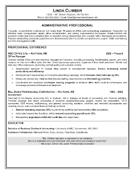 Example Of An Administrative Assistant Resume Free Resume Templates