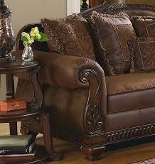 traditional furniture living room. Brady - Traditional Wood Trim \u0026 Chenille Fabric Sofa Set Living Room Furniture C