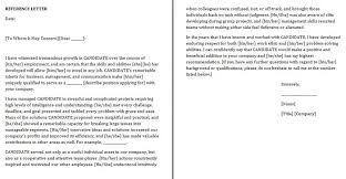 Personal Recommendation Letter Sample For A Friend Military