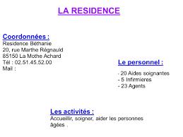 3 la residence coordonnées