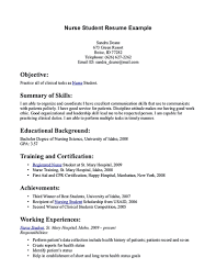 School Nurse Resume Objective Nursing Student Resume Must Contains Relevant Skills Experience 49