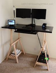... Medium Size of Home Desk:ikea Hack Standing Desk Home Magnificent Diy  Sit Stand Picture