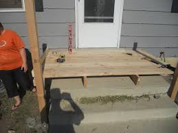 how to build wooden steps over existing concrete steps