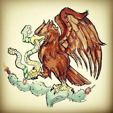 mexican flag eagle drawing. Plain Eagle Art By Carlos Ricardez Favorite Bird The Eagle On The Mexican Flag  With Drawing X