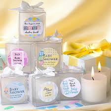 Baby Shower Frosted Votive Candle Personalized Favors Baby Shower Personalized Gifts