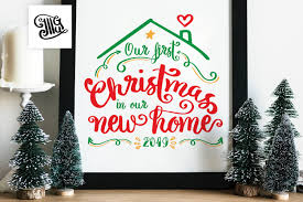 Shop today & save, plus get free shipping offers with orientaltrading.com. First Christmas In Our New Home Ornament Svg Digital Files First Hou Illustrator Guru