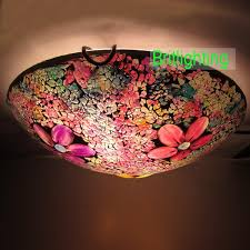 mosaic glass small ceiling lamp traditional flush mount ceiling lights multi colour glass ceiling lights modern celing lamp for bedroom led ceiling lights