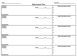 Sample Common Core Lesson Plan Inspiration Lesson Plan Template First Grade Pictures Blank Lesson Plan