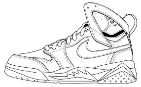 Nike Air Jordan Coloring Page Shoes Shoes Coloring Page Di 2019