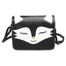 cute fox face bag girl flap closure shoulder bag women cross bags lady pu leather handbags animal