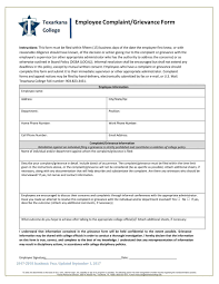 Complaint Template Employee Complaint Form Doc Sample Template Formal Word Inherwake