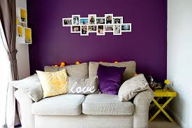 Purple Living Room Furniture Furniture Modern Purple Living Room With Grey Leather Sofa Feat