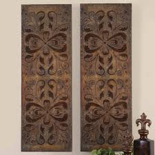 Indian Inspired Wall Decor Home Design Pine Trees Wood Carving Wall Art Throughout 87