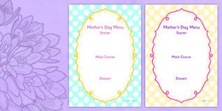 Mother S Day Menu Template Mothers Day Menu Template Mothers Day Menu Template Writing