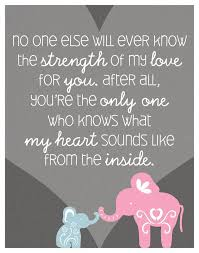 Elephant Quote Poster Print For Baby's Nursery BabyLOVE Delectable My Baby Quotes
