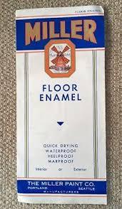 Vintage Miller Floor Enamel Color Chart Brochure 5 00