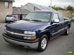 2001 Indigo Blue Metallic Chevrolet Silverado 1500 LS Extended Cab ...